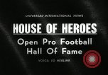 Image of Pro Football Hall of Fame Canton Ohio USA, 1963, second 5 stock footage video 65675030506