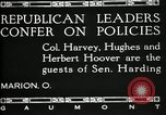 Image of Senator Warren G Harding Marion Ohio USA, 1920, second 6 stock footage video 65675030508