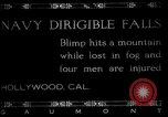 Image of damaged Navy blimp Hollywood California Laural Canyon USA, 1920, second 1 stock footage video 65675030509