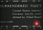 Image of Surrendered German ships towed by US Navy after World War 1 New York United States USA, 1920, second 2 stock footage video 65675030510