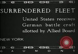 Image of Surrendered German ships towed by US Navy after World War 1 New York United States USA, 1920, second 4 stock footage video 65675030510