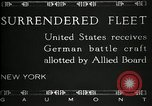 Image of Surrendered German ships towed by US Navy after World War 1 New York United States USA, 1920, second 7 stock footage video 65675030510