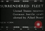 Image of Surrendered German ships towed by US Navy after World War 1 New York United States USA, 1920, second 9 stock footage video 65675030510