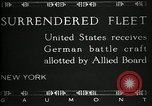 Image of Surrendered German ships towed by US Navy after World War 1 New York United States USA, 1920, second 11 stock footage video 65675030510
