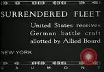 Image of Surrendered German ships towed by US Navy after World War 1 New York United States USA, 1920, second 12 stock footage video 65675030510