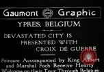 Image of President Raymond Poincaré Ypres Belgium, 1920, second 1 stock footage video 65675030511