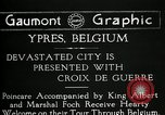 Image of President Raymond Poincaré Ypres Belgium, 1920, second 4 stock footage video 65675030511