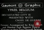 Image of President Raymond Poincaré Ypres Belgium, 1920, second 7 stock footage video 65675030511