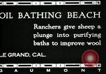 Image of hot oil bath Le Grand California USA, 1920, second 2 stock footage video 65675030512