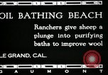 Image of hot oil bath Le Grand California USA, 1920, second 8 stock footage video 65675030512