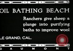 Image of hot oil bath Le Grand California USA, 1920, second 10 stock footage video 65675030512