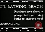 Image of hot oil bath Le Grand California USA, 1920, second 11 stock footage video 65675030512