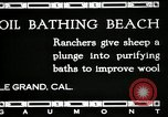 Image of hot oil bath Le Grand California USA, 1920, second 12 stock footage video 65675030512
