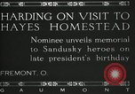 Image of President W G Harding Fremont Ohio USA, 1919, second 2 stock footage video 65675030513