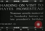 Image of President W G Harding Fremont Ohio USA, 1919, second 3 stock footage video 65675030513