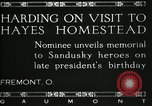 Image of President W G Harding Fremont Ohio USA, 1919, second 5 stock footage video 65675030513
