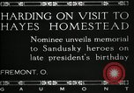 Image of President W G Harding Fremont Ohio USA, 1919, second 7 stock footage video 65675030513