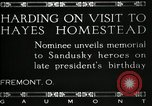 Image of President W G Harding Fremont Ohio USA, 1919, second 8 stock footage video 65675030513