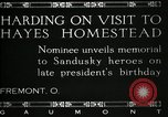 Image of President W G Harding Fremont Ohio USA, 1919, second 10 stock footage video 65675030513