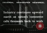 Image of jobs at factories in America during Great Depression United States USA, 1932, second 5 stock footage video 65675030527