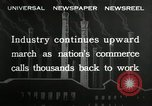 Image of jobs at factories in America during Great Depression United States USA, 1932, second 10 stock footage video 65675030527