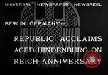 Image of Paul Von Hindenburg Berlin Germany, 1932, second 2 stock footage video 65675030528