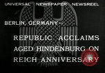 Image of Paul Von Hindenburg Berlin Germany, 1932, second 3 stock footage video 65675030528