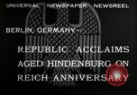 Image of Paul Von Hindenburg Berlin Germany, 1932, second 4 stock footage video 65675030528