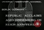 Image of Paul Von Hindenburg Berlin Germany, 1932, second 5 stock footage video 65675030528