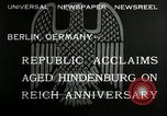 Image of Paul Von Hindenburg Berlin Germany, 1932, second 7 stock footage video 65675030528