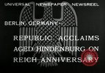Image of Paul Von Hindenburg Berlin Germany, 1932, second 8 stock footage video 65675030528