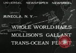 Image of aviator Jim Mollison Roosevelt Field New York USA, 1932, second 1 stock footage video 65675030529
