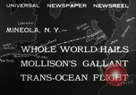 Image of aviator Jim Mollison Roosevelt Field New York USA, 1932, second 2 stock footage video 65675030529
