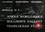 Image of aviator Jim Mollison Roosevelt Field New York USA, 1932, second 4 stock footage video 65675030529
