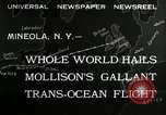 Image of aviator Jim Mollison Roosevelt Field New York USA, 1932, second 5 stock footage video 65675030529