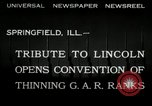 Image of Civil War Veterans Illinois United States USA, 1932, second 2 stock footage video 65675030535