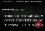 Image of Civil War Veterans Illinois United States USA, 1932, second 3 stock footage video 65675030535