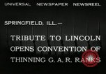 Image of Civil War Veterans Illinois United States USA, 1932, second 6 stock footage video 65675030535