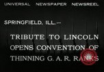 Image of Civil War Veterans Illinois United States USA, 1932, second 8 stock footage video 65675030535