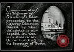 Image of Highway of Friendship plaque Washington DC USA, 1925, second 3 stock footage video 65675030560
