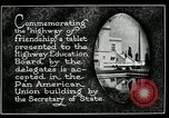 Image of Highway of Friendship plaque Washington DC USA, 1925, second 7 stock footage video 65675030560