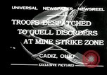 Image of coal mines strike Cadiz Ohio USA, 1932, second 2 stock footage video 65675030576
