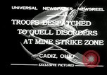 Image of coal mines strike Cadiz Ohio USA, 1932, second 3 stock footage video 65675030576