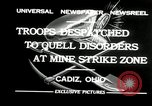 Image of coal mines strike Cadiz Ohio USA, 1932, second 4 stock footage video 65675030576