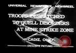 Image of coal mines strike Cadiz Ohio USA, 1932, second 7 stock footage video 65675030576