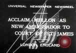 Image of Andrew W Mellon ambassador London England United Kingdom, 1932, second 1 stock footage video 65675030577