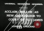 Image of Andrew W Mellon ambassador London England United Kingdom, 1932, second 3 stock footage video 65675030577