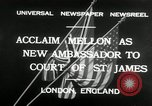Image of Andrew W Mellon ambassador London England United Kingdom, 1932, second 6 stock footage video 65675030577