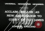 Image of Andrew W Mellon ambassador London England United Kingdom, 1932, second 7 stock footage video 65675030577