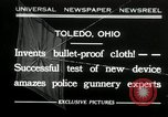 Image of bullet proof cloth test Toledo Ohio USA, 1932, second 1 stock footage video 65675030579